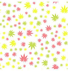 seamless texture marijuana two vector image