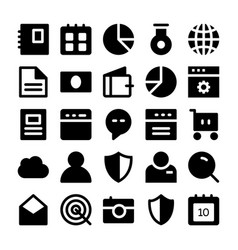 Seo and marketing solid icons 1 vector