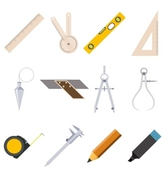 Set measure tools icons vector