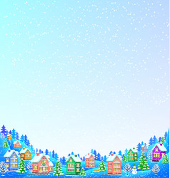 Snow background for text with winter landscape vector