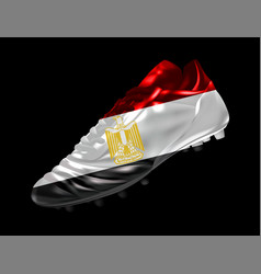 soccer football boot with the flag of egypt vector image