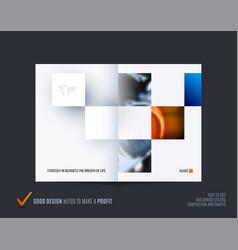 Square design presentation template with colourful vector