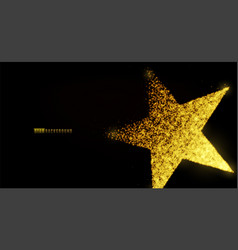 Star banner background design with glowing vector