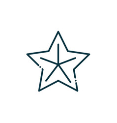 star happy christmas line icon vector image