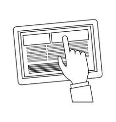 Tablet gadget icon image vector