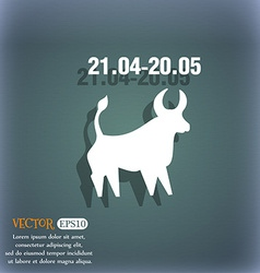 Taurus icon On the blue-green abstract background vector image