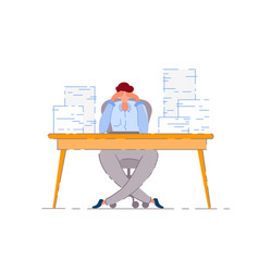 tired worker isolated exhausted man vector image