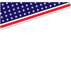 us abstract flag symbols corner border vector image