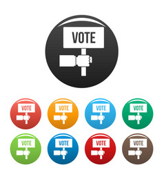 vote candidate banner icons set color vector image