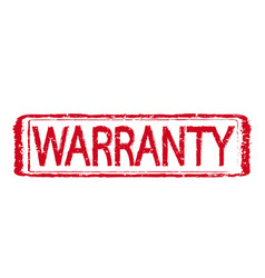 warranty stamp text vector image