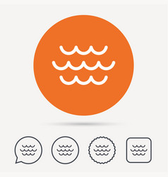 wave icon water stream sign vector image