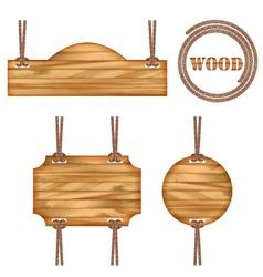 Wood frame rope design vector image