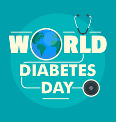 world diabetes day concept background flat style vector image