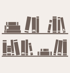 Books on the shelves vector image vector image