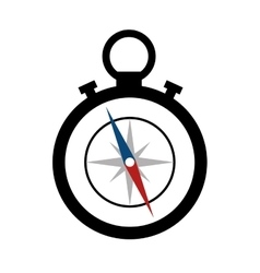 compass maritime device icon vector image