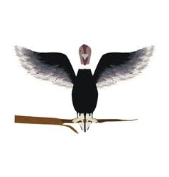 condor animal bird in branch vector image