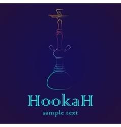 Hookah outline gradient vector image vector image