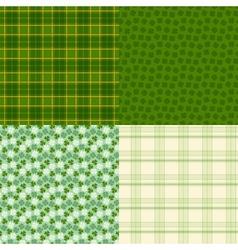 Saint Patricks Day seamless patterns vector image vector image