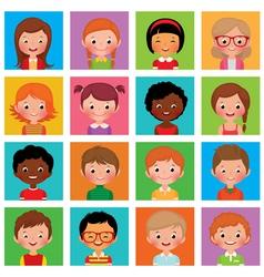 Set avatars boys and girls vector image
