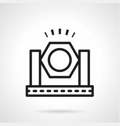 spotlight simple line icon vector image vector image