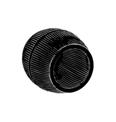black barrel on white background vector image