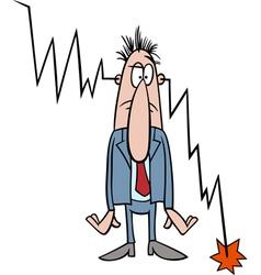 economic crisis cartoon vector image vector image