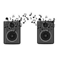 Music Speakers With Melody vector image vector image