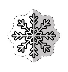 snowflakes winter ornament cut line vector image vector image