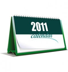 2011 calendar template vector image