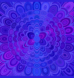 blue abstract flower mandala background - love vector image vector image