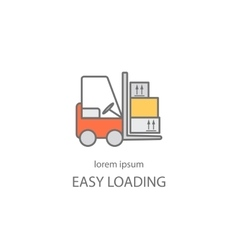 Cargo loader logotype design vector image