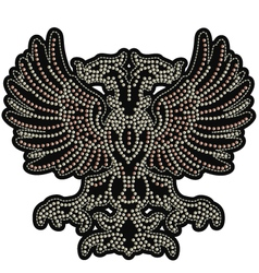 eagle emblem with studs vector image vector image