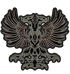 eagle emblem with studs vector image