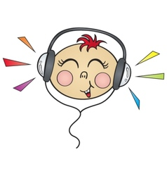 happy music vector image vector image