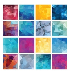 Polygonal background set vector image vector image
