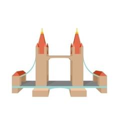 Tower Bridge in London icon cartoon style vector image vector image