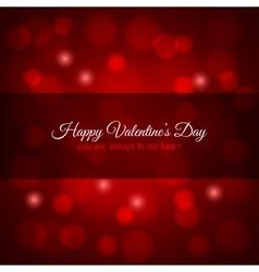valentines day red lights design background vector image vector image