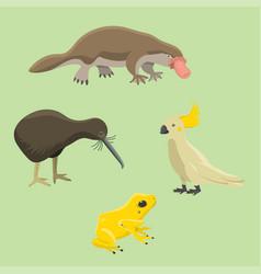 australia wild animals cartoon popular nature vector image vector image