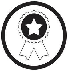 Badge star monochrome vector image vector image
