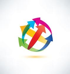 globe arrow abstract symbol vector image vector image