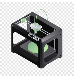 3d printer icon isometric style vector