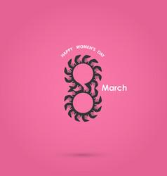 8 march logo design and international women day vector