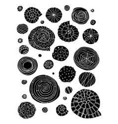Abstract design elements spirals and circles vector