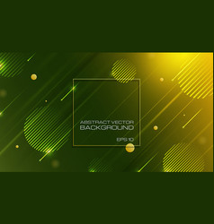 abstract geometric shapes green background vector image