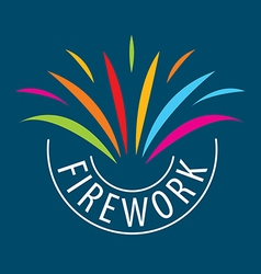 Abstract logo for the celebrations and fireworks vector