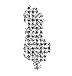 abstract schematic map of albania from the black vector image