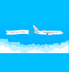 Airplane banner in flat style speed vector