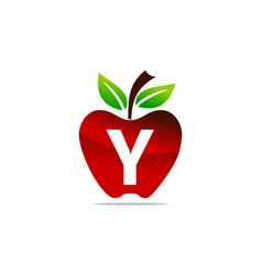 Apple letter y logo design template vector