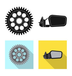 Auto and part icon vector