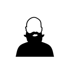 bearded dad icon design template isolated vector image
